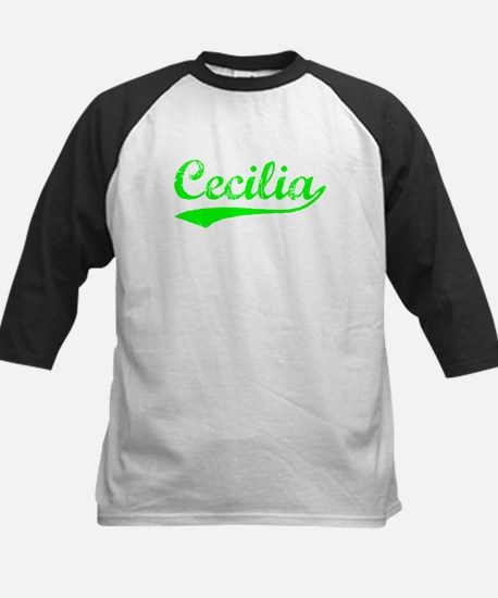 Vintage Cecilia (Green) Kids Baseball Jersey