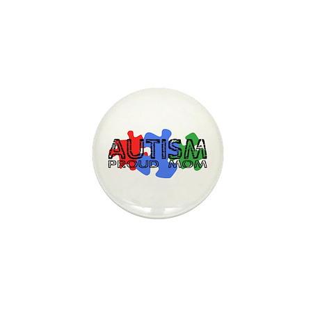 Autism - Proud Mom Mini Button