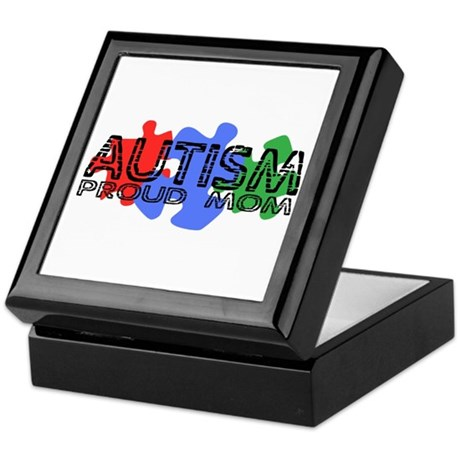 Autism - Proud Mom Keepsake Box