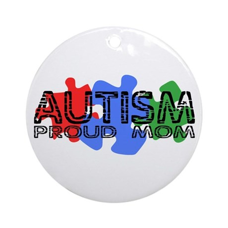 Autism - Proud Mom Ornament (Round)