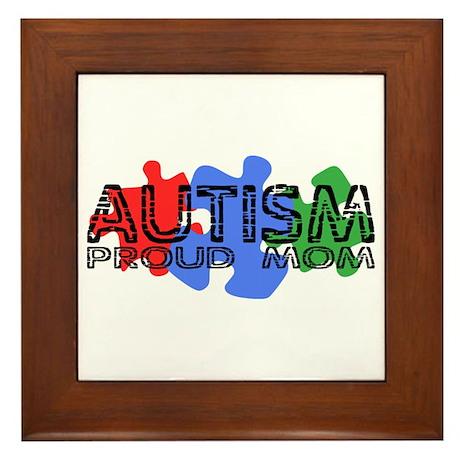 Autism - Proud Mom Framed Tile