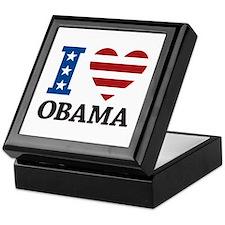I Love Obama Keepsake Box