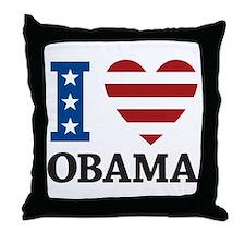 I Love Obama Throw Pillow