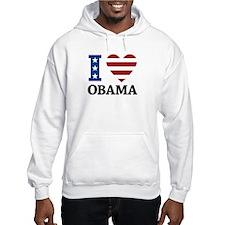I Love Obama Hoodie
