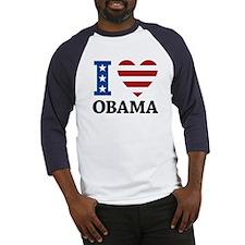 I Love Obama Baseball Jersey