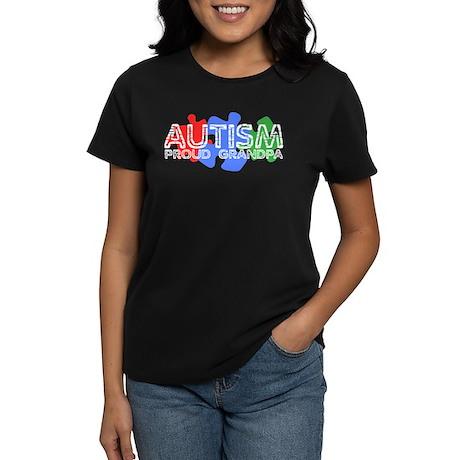 Autism - Proud Grandpa Women's Dark T-Shirt