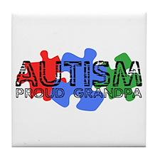 Autism - Proud Grandpa Tile Coaster
