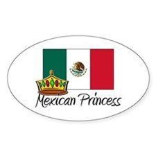 Mexican Princess Oval Decal