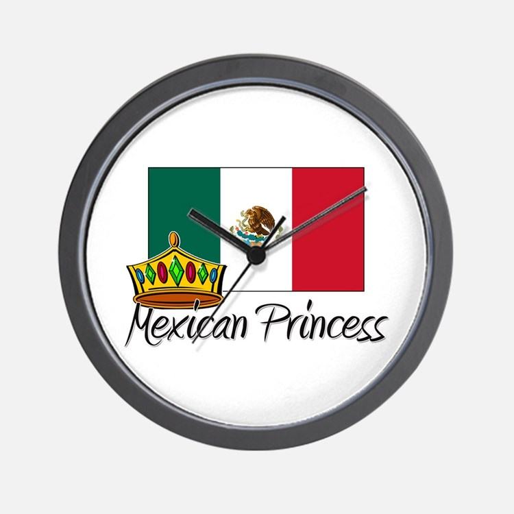 Mexican Princess Wall Clock