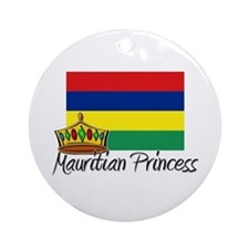 Mauritian Princess Ornament (Round)