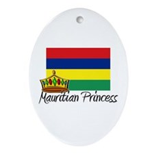 Mauritian Princess Oval Ornament