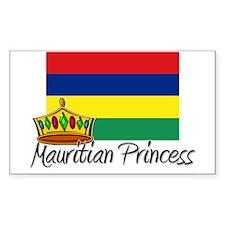 Mauritian Princess Rectangle Decal