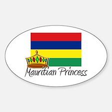 Mauritian Princess Oval Decal