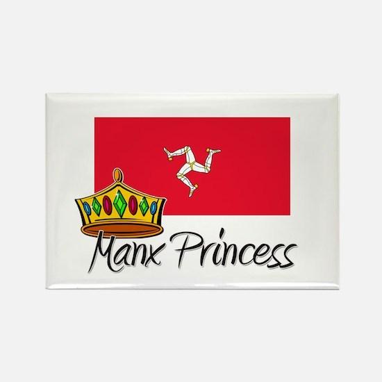 Manx Princess Rectangle Magnet