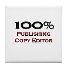 100 Percent Publishing Copy Editor Tile Coaster