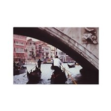 Venice gondolas under bridge Rectangle Magnet