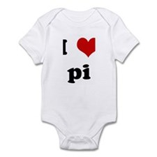 I Love pi Infant Bodysuit