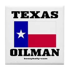 Texas Oilman Tile Coaster