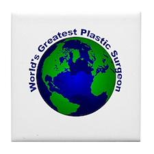 World's Greatest Plastic Surg Tile Coaster