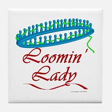 Loomin' Lady Tile Coaster
