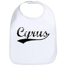 Vintage Cyrus (Black) Bib