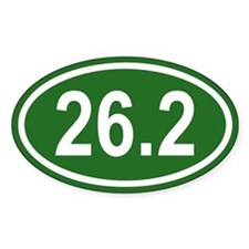 26.2 Marathon Green Euro Oval Decal