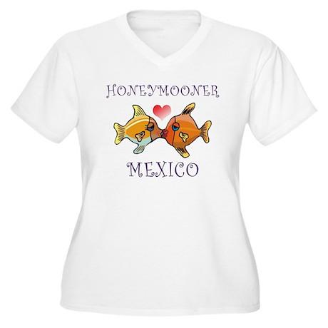 Mexico Women's Plus Size V-Neck T-Shirt