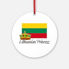 Lithuanian Princess Ornament (Round)
