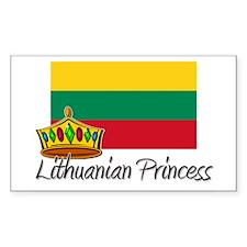 Lithuanian Princess Rectangle Decal