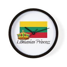 Lithuanian Princess Wall Clock