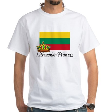 Lithuanian Princess White T-Shirt