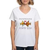 Costa rica Womens V-Neck T-shirts