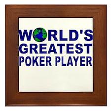 WOrld's Greatest Poker Player Framed Tile