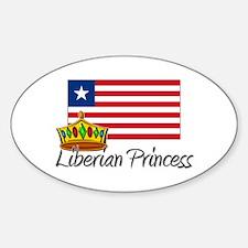 Liberian Princess Oval Decal