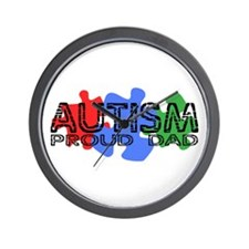 Autism - Proud Dad Wall Clock