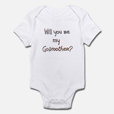 Candaa Will you be my Godmother Infant Bodysuit