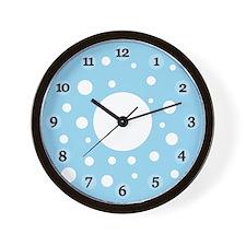 Blue Polka Dots Clock