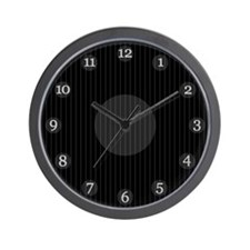Black Pinstripe Clock
