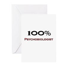 100 Percent Psychobiologist Greeting Cards (Pk of