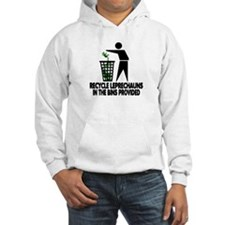 Funny Recycling Leprechauns Hoodie