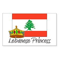 Lebanese Princess Rectangle Decal