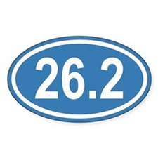 26.2 Marathon Blue Euro Oval Decal