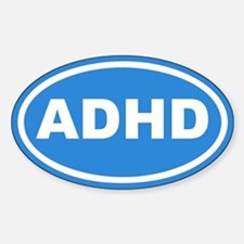 ADHD Blue Euro Oval Decal