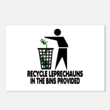 Funny Recycling Leprechauns Postcards (Package of