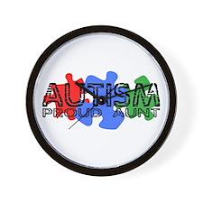 Autism - Proud Aunt Wall Clock