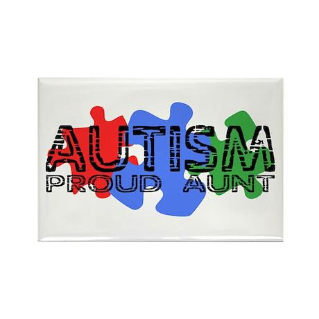 Autism - Proud Aunt Rectangle Magnet