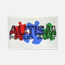 Autism - Proud Aunt Rectangle Magnet