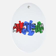 Autism - Proud Aunt Oval Ornament