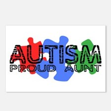 Autism - Proud Aunt Postcards (Package of 8)