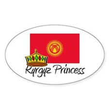 Kyrgyz Princess Oval Decal